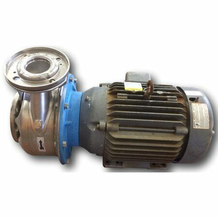 Used 20 Hp Goulds 316 Stainless Steel Centrifugal Pump Ssh 3x4-10 28sh2n5ao