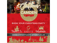 BOOK YOUR CHRISTMAS PARTY IN CAMDEN!