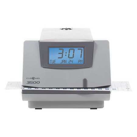 PYRAMID 3500 Time Clock and Document Stamp,Digital,