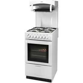Beko gas cooker with eye level grill.