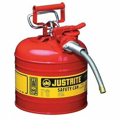 Justrite 7220120 2 Gal. Red Steel Type Ii Safety Can For Flammables