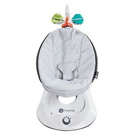 4 MOMS rockaroo baby chair in silver