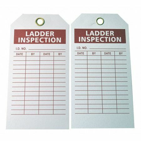 Brady 9K964 Lad Inspection Tag,5-3/4 X 3 In,Pk100