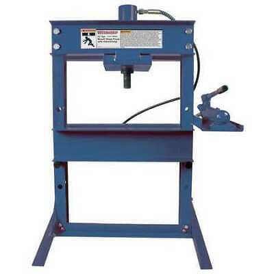 Westward 1mzj7 Hydraulic Bench Shop Press12 Tons