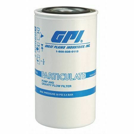Gpi 129300-01 Fuel Filter Canister,3-3/4 X 3-3/4 X 7In