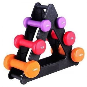 Everfit 6 Piece Dumbbell Weights Set with Stand--6kg Bayswater Knox Area Preview