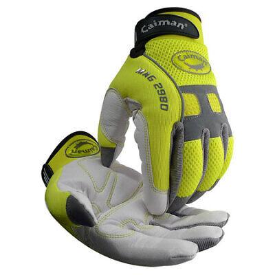 Caiman 2980-4 Medium White Neoprene Cuff Mechanics Gloves