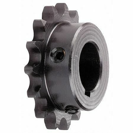 Tsubaki 40B20f-1 Single Strand Sprocket, 40 Chain Size, 1 Bore Dia., 20 # Of