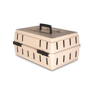 Used Small Petmate Almond Cabin Kennel Solid Top, Up to 10 lb
