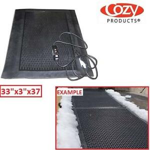 "NEW ELECTRIC OUTDOOR HEATED MAT ICE-SNOW 211881444 Ice-Away Heated Mat Ice  Snow Melting Mat 33""x3""x37"""
