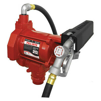 Fill-rite Fr700v Fuel Transfer Pump 115vac 20 Gpm 13 Hp Cast Iron
