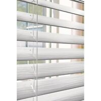 Faux wood 2 inch blinds with valance