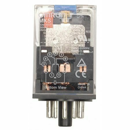 Omron Mks2piac120 General Purpose Relay, 120V Ac Coil Volts, Octal, 8 Pin, Dpdt