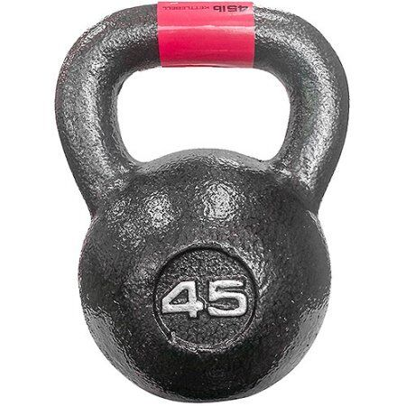 Marcy 45 lb Cast Iron Kettle Bell: HKB-045 W