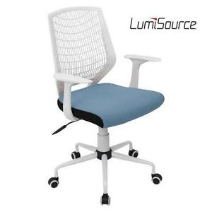 NEW LUMISOURCE OFFICE CHAIR NETWORK OFFICE CHAIR - WHITE/BLUE 102060133