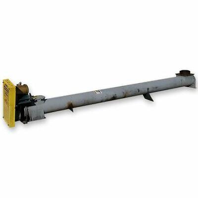 Used Continental Screw Auger Conveyor 9 Dia X 15 L Circular Tubular Housing