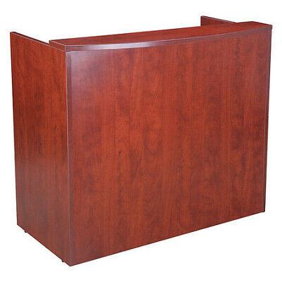 "BOSS N168-C Glazed Reception Desk,48""Wx26""Dx41.5""H,Cherry"