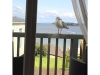 Caravan Hire - Beginning May bank holiday stil avail**Lydstep Beach - fantastic sea views.