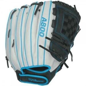 "Wilson Aura A800 12.5"" Baseball Glove Left Hand Throw (RH Glove)"