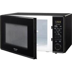 microwave 2.2CUFT-SHARP-WHITE OR BLACK IN BOX WITH-WARRANTY-$119