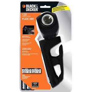 Black & Decker BDC3AA-B Flex 360 Clamp Light with Batteries