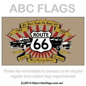 Route 66 flag, Harley Davidson flag, black white check flag Valley View Salisbury Area Preview