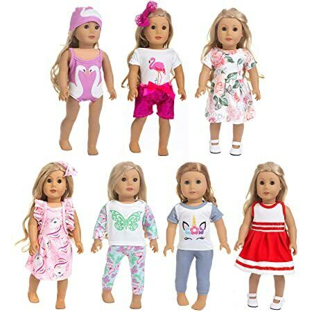 18 inch Doll Clothes and Accessories:  Inlcudes 7 Outfits