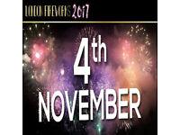 LONDON FIREWORKS DISPLAY (FIFTH BIRTHDAY EVENT)