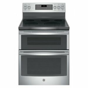 "GE 30"" STAINLESS STEEL FREE-STANDING ELECTRIC DOUBLE OVEN CONVEC"