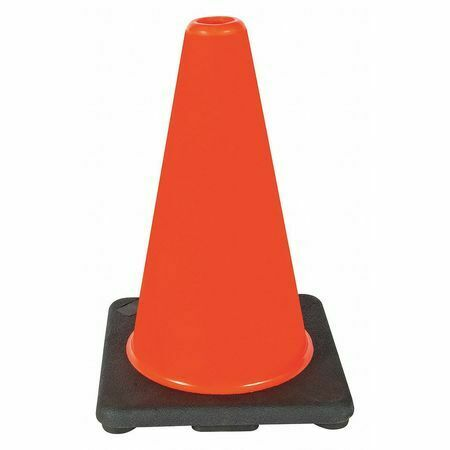 Zoro Select 6Fgz0 Traffic Cone, 12In, Orange, Weight: 1.7 Lb