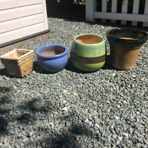 4 Plant Pots, assorted sizes $7-$5 each or 4 for $20