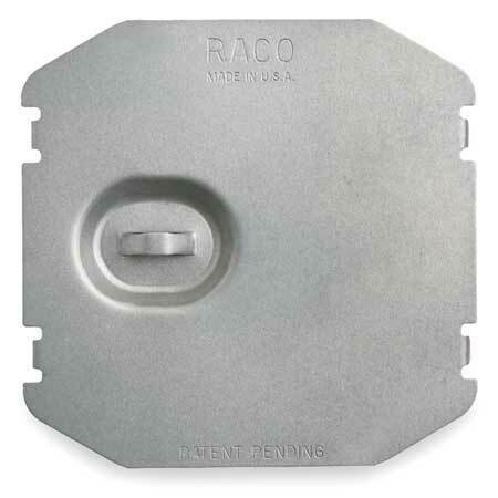 Raco 702F Electrical Box Cover,Square,Flat