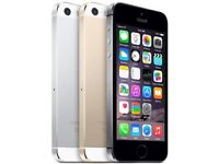 APPLE IPHONE 5S 16GB SIMFREE GRADE A LIKE NEW COMES WITH CHARGER AND THREE MONTHS WARRANTY