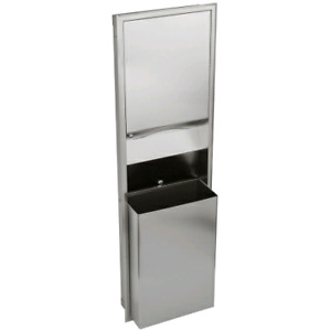 Stainless Steel All In One Paper Tower Dispenser & Garbage Bin