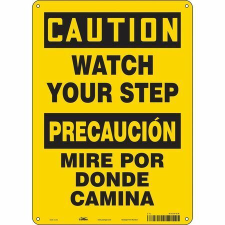 """Condor 469P86 Safety Sign,10"""" W,14"""" H,0.032"""" Thickness"""