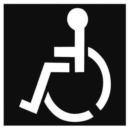 Zoro Select 20Y542 Handicap Symbol Stencil
