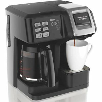 Hamilton Beach 49976 Lead brew 2-Way Brewer Programmable Coffee Maker Black NEW