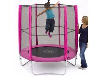 Plum Pink 6ft Trampoline and Enclosure