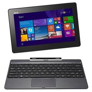 """ASUS T100TAF """"B"""" 2IN1 32GB 1.33+ QC 10.1"""" W8.1 TABLET (RB)"""
