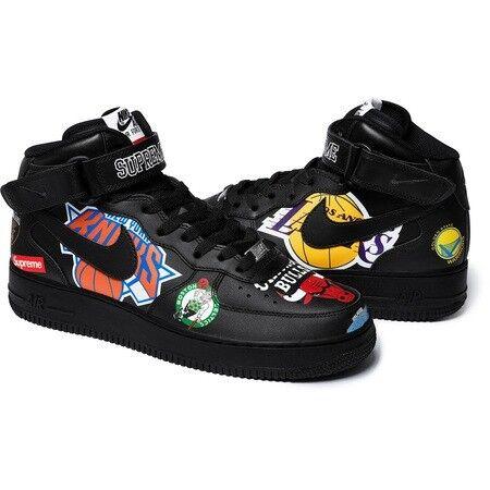 Supreme x Nike x NBA Air Force 1 Black UK size 10.5 £180 ONLY