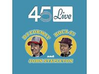 45 Live 1st Birthday Party with DJ Format & Guests