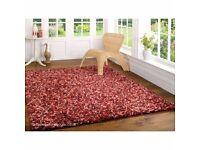 super soft 120cm x 170cm cranberry truffle rug