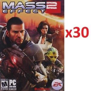 NEW 30 MASS EFFECT 2 PC GAMES 220519998 PC SOFTWARE COMPUTER VIDEO GAME EA ELECTRONIC ARTS 1 CASE OF 30 GAMES