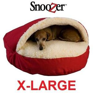 NEW SNOOZER X-LARGE CAVE PET BED X-LARGE LUXURY ORTHOPEDIC COZY CAVE PET BED - RED 103962401