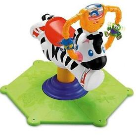 Fisher Price spin and bounce zebra
