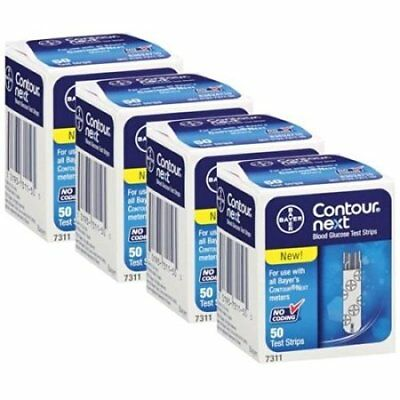 Bayer Contour Next Test Strips, 4 Boxes of 50  *SHIPS FREE!*