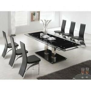 Gl Dining Table And 8 Chairs