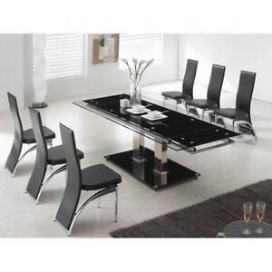 Black Dining Room Set Design