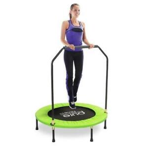 New Pure Fun 40-Inch Exercise Trampoline, with Handrail, Green DI16