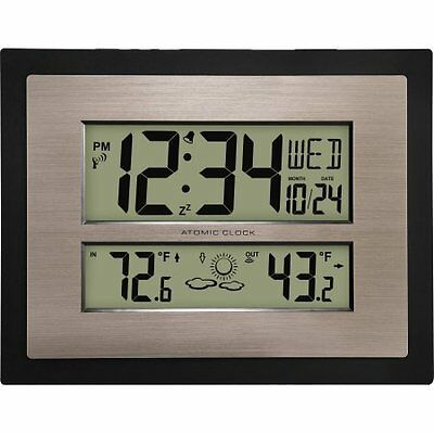 Better Homes and Gardens Atomic Digital Wall Clock with F